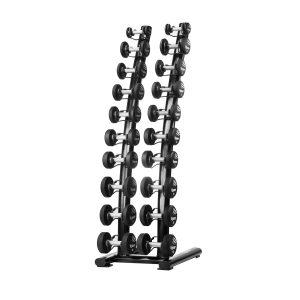 Tiguar chrome/PU dumbbell rack 1kg – 10kg